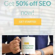 50% off SEO now with Tesfa.com/SEO